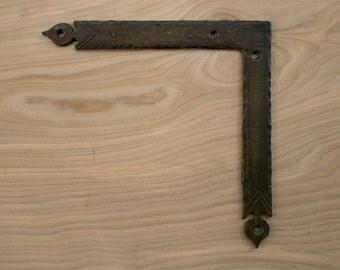 """8"""" Corner Bracket - Bronze Bracket - Door Decoration - Door Brace - Decorative Hardware - Barn Door Hardware - Bronze Hardware  536303BR"""