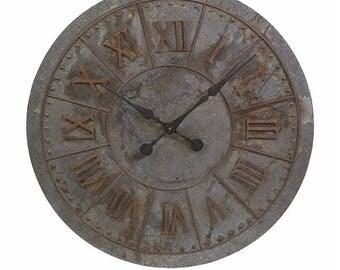 Galvanized clock