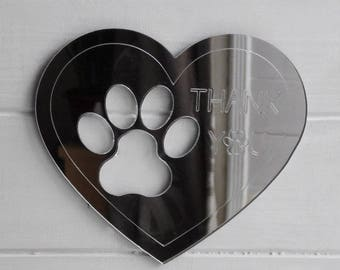 Thank you Message Acrylic Engraved Mirror