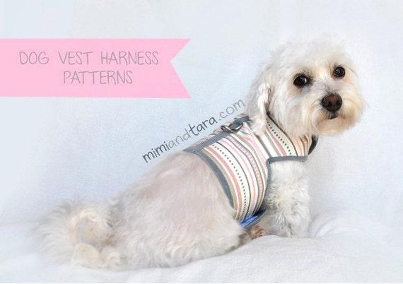 Dog Harness Pattern Size Xs Vest Harness Sewing Pattern Dog