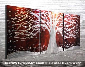 Modern Contemporary Metal Wall Art. Metal Painting Wall Art. Painting on Aluminum. Metal Painting Wall Art. Metal Wall