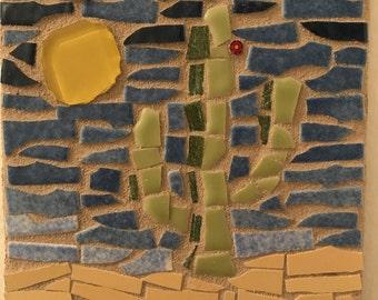 Glass mosaic tile/trivet