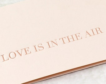 Love is in the Air Boarding Pass Invitation - Pale Pink/Peach