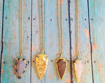 Arrowheads on chain