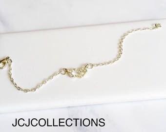Silver Open Heart Bracelet, Pave Bracelet