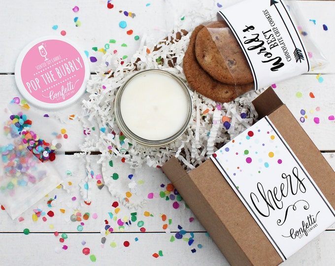 Mini Cheers Gift Box - Congratulations Gift | Pop the Bubbly | Cheers Gift | Friend Gift