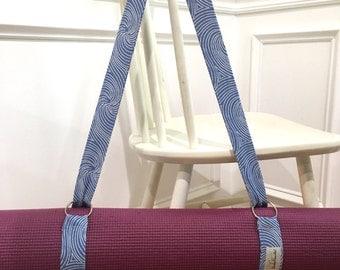 Yoga Mat Strap - Yoga Mat Carrier - Yoga Mat Sling - Monogrammed Yoga Sling - Homemade Yoga Mat Strap