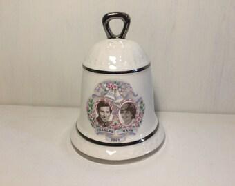 Royal Commemorative Bell, Sylvac Ceramics, Charles and Diana, Royal Wedding, British Royal Family, Princess Diana, Royal Memorabilia.