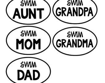 Swim Family Magnet