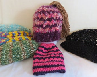 Messy Bun Hat - A1624