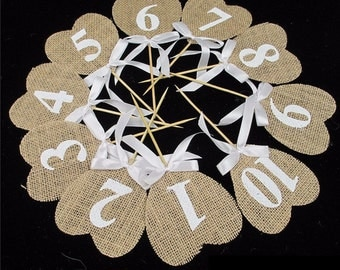 Table numbers, vintage, wedding, jewelry, decoration
