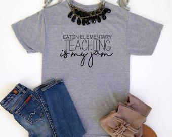 Custom 'Teaching is My Jam' Shirts