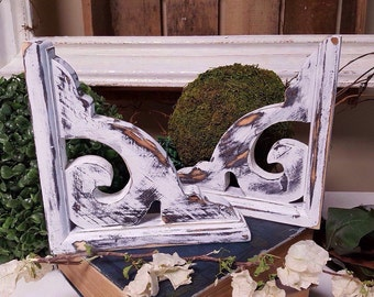 Corbel set, heavily distressed, farmhouse style, rustic home decor, great for gifts or to add rustic charm to your decor.