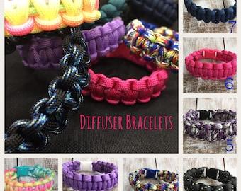 Diffuser Bracelet, All Sizes, All Ages, Paracord, Bracelet