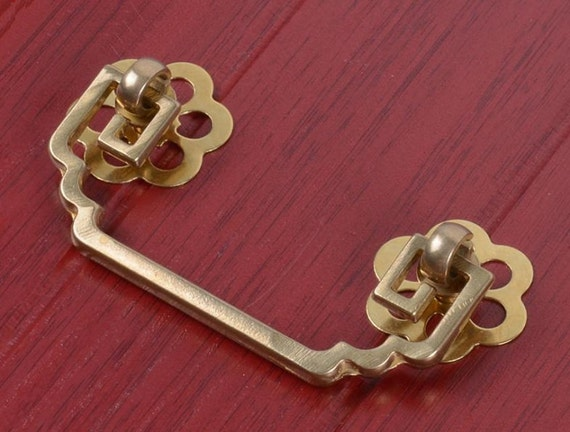 Chinese Style Antique Drop Bail Pulls Knobs Drawer