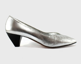Unworn Lanvin silver shoes