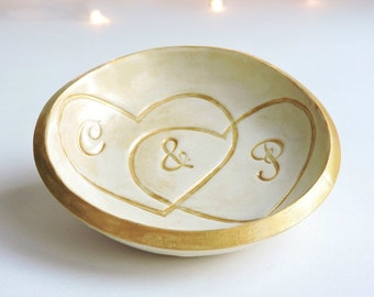 Personalized Ring Dish - Wedding Ring Holder - Golden Anniversary Gifts - Fiftieth Wedding Anniversary Ideas - 50th Wedding Anniversary Gift