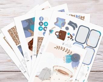 Planner Stickers | Weekly Kit - Sweater Weather | Erin Condren Vertical