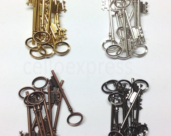 """Pendant Keys - 8cm/ 3.15"""" - Metal Charms Steampunk Parts Jewellery for Christmas Gifs"""