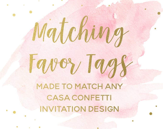 "Matching 2"" Square Favor Tags for any Design, Custom Baby Shower Birthday Bridal Shower Baptism Favor Tags, Party Printable Decorations"