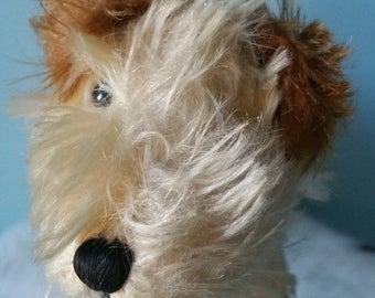 STEIFF terrier dog! Vintage plush steiff dog rare