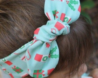 Christmas Coffee Top Knot- headband, Christmas accessories, christmas top knot, baby headband, toddler headband, starbucks, adult headband
