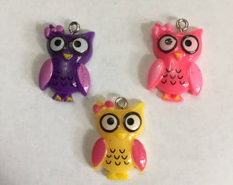Cute Owl Dangle Charms