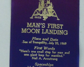 Man's First Moon Landing Commemorative Ribbon