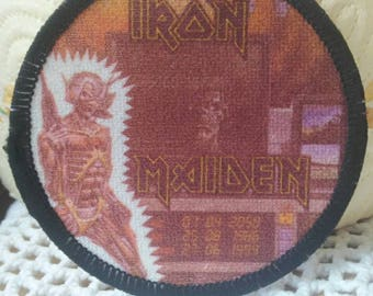 Iron Maiden , vintage patch 80s , very rare , Somewhere in Time '86  !!