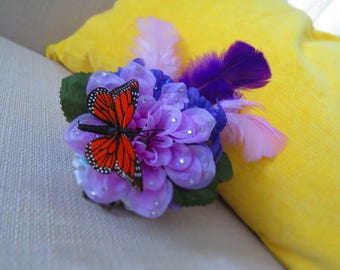Butterfly Clip On Fascinator