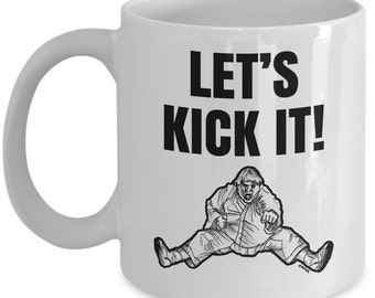 Karate or ninja mug - Funny martial arts mug gift - Let's Kick It coffee cup // By Mark Bernard - sketchnkustom!