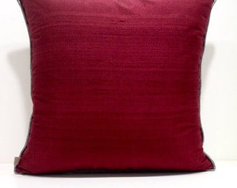 Burgundy Cushion Etsy