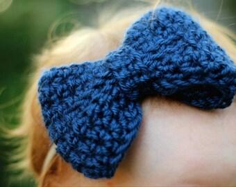 Big Baby Headband / Nylon Headband / Nylon Baby Headband / Blue Nylon Headband / Baby Girl Headband Navy / Nylon Baby Headband Blue