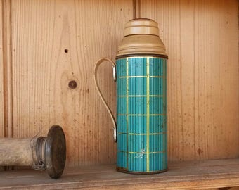 1960s Thermos, Made in England, Soup Thermos, Collectible Thermos, Vintage Flask, Bar Decor