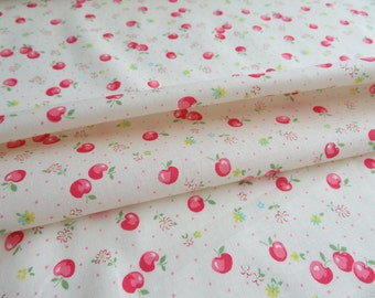 1/2 yard Yuwa Atsuko Matsuyama Japan - Candy Apple - AT116519 - Cream