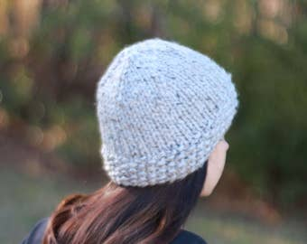 READY TO SHIP Chunky Knit Beanie, Chunky Knit Hat, Chunky Knit Toque, Knitted Hat, Winter Hat, Women's Hat
