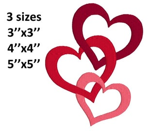heart machine embroidery design, fill design, instant download, 3 sizes, fits 3''x3'', 4''x4'', 5''x5'' hoops
