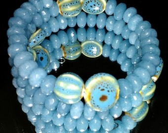 Periwinkle blue wrap bracelet