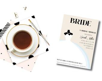 Bridal Magazine Cover DIY Printable Bridal Shower Invitation