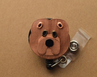 Chow Chow Badge Holder Pet Dog Metal Work Lanyard
