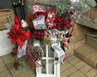 Christmas Swag, Lantern Decoration, Mantel Christmas Decoration, Porch Decoration, Lantern Swag, Christmas Home Decor, Christmas Decoration