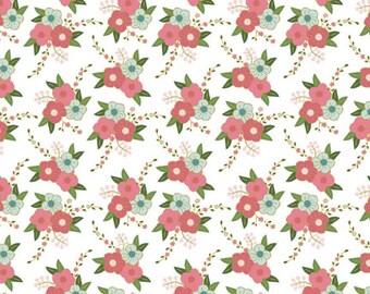 Wonderland Floral in White from Wonderland by Melissa Mortensen for Riley Blake Designs