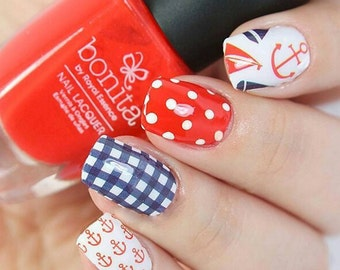 Nautical Nail Polish Wraps