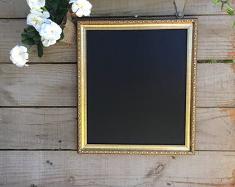 Vintage Framed Chalkboard, Framed Menu Board, Vintage chalkboard wedding, Antique Frame