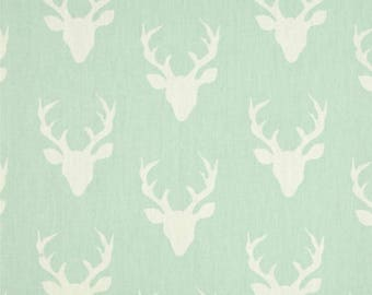 Antlers in mint crib sheet or changjnh pad cover, deer, baby gile, crib bedding