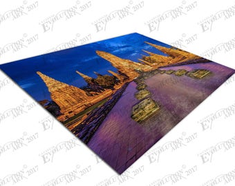 Print on Canvas Buddhist Temple Chaiwatthanaram Ayutthaya Thailand X1677