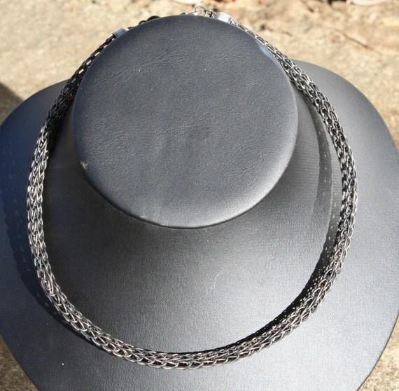 Black Iron Viking Knit Necklace