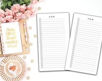 To Do List - printable planner insert - Filofax personal - Kikki K Medium -print at home - planner refill