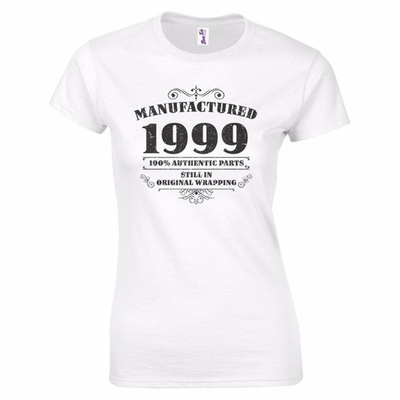 frauen 18 geburtstag t shirt lustige hergestellt 1999 18. Black Bedroom Furniture Sets. Home Design Ideas