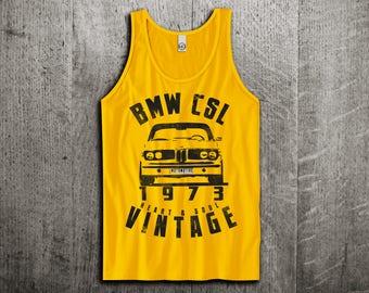 BMW Tank Top, BMW CSL vintage t shirts, Vintage cars shirts, cars tanks, german cars shirts, bmw t shirts, men tshirts women t shirts Unisex